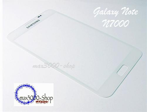 Original Samsung Galaxy Note N7000 Touchsreen Displayglas weiss