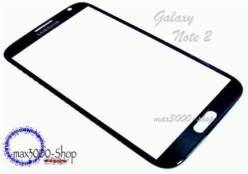 Original Samsung Galaxy Note II 2 N7100 Touchsreen Displayglas schwarz
