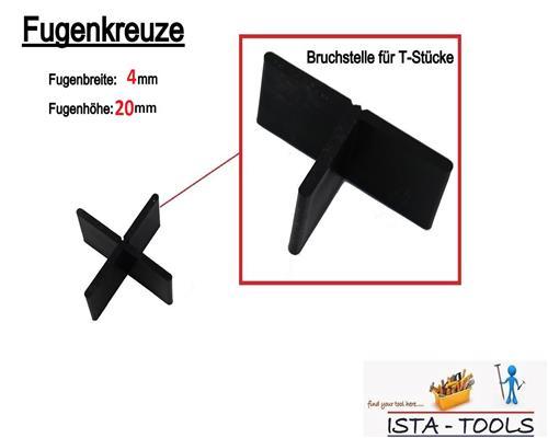 fugenkreuze 4 20mm f r terrassenplatten bodenplatten fliesenkreuze 4 mm ebay. Black Bedroom Furniture Sets. Home Design Ideas