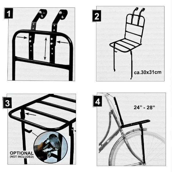 fahrrad frontgep cktr ger f r 24 28 r der front gep cktr ger f r fahrrad korb ebay. Black Bedroom Furniture Sets. Home Design Ideas
