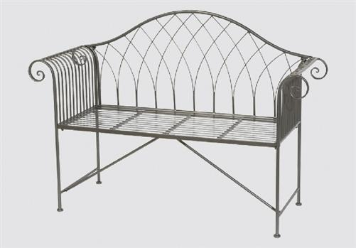 bank gartenbank bereno 130x47 5x95cm sitzbank metall parkbank eisen 7293 ebay. Black Bedroom Furniture Sets. Home Design Ideas