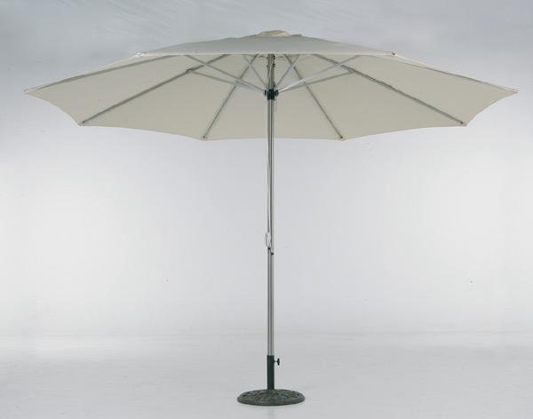 edelstahl sonnenschirm natur 350 cm mit uv schutz ebay. Black Bedroom Furniture Sets. Home Design Ideas