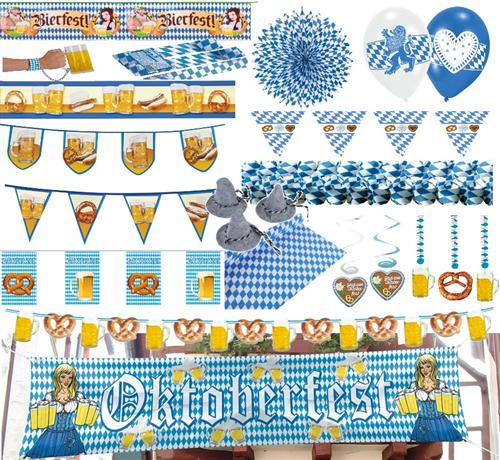 oktoberfest dekoration bayern party bavaria blau weiss. Black Bedroom Furniture Sets. Home Design Ideas