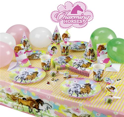 charming horses 2 pferde kindergeburtstag motto party deko set geburtstag top ebay. Black Bedroom Furniture Sets. Home Design Ideas