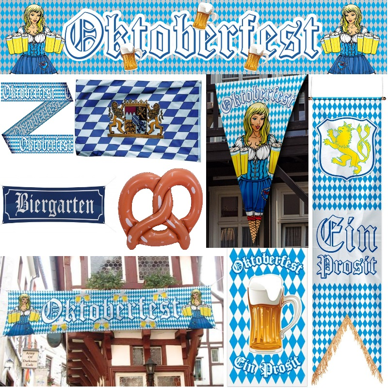 oktoberfest party deko bayern bavaria wiesn flaggen banner poster fahnen ebay. Black Bedroom Furniture Sets. Home Design Ideas