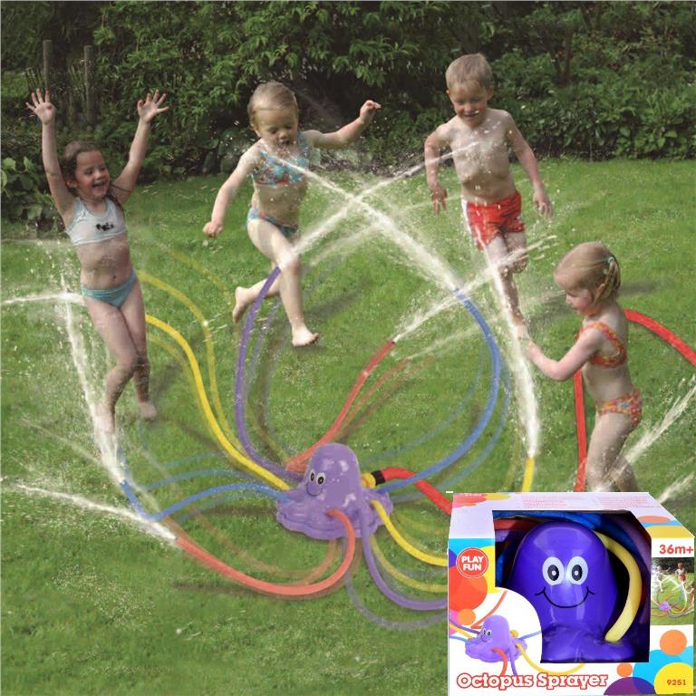 wassersprinkler octopus sprayer wasser font ne kinder dusche f r den garten ebay. Black Bedroom Furniture Sets. Home Design Ideas