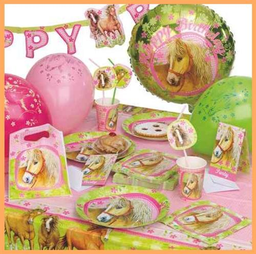 Charming horses pferde party geburtstag set for Kindergeburtstag party set