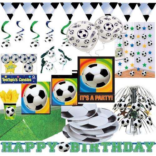 kinder geburtstag fussball party deko geschirr riesen auswahl. Black Bedroom Furniture Sets. Home Design Ideas