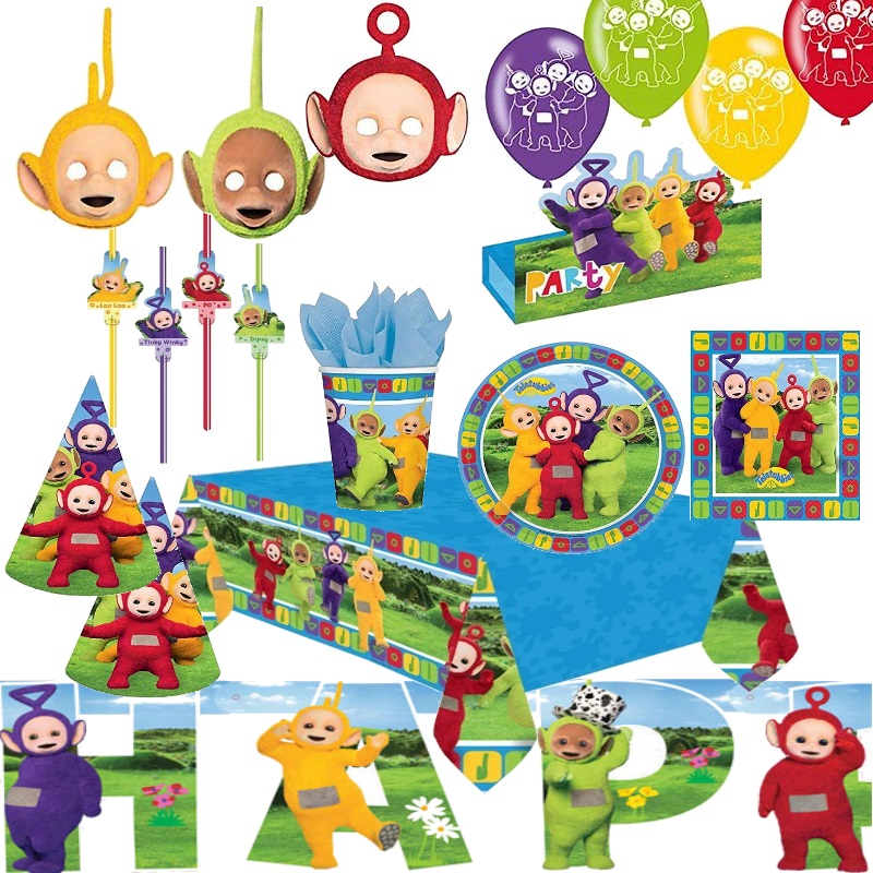 teletubbies alles zum kindergeburtstag geburtstag kinder party deko lala po ebay. Black Bedroom Furniture Sets. Home Design Ideas