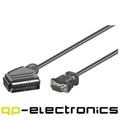 scart an vga adapter kabel f r beamer euro av tv 2m ebay. Black Bedroom Furniture Sets. Home Design Ideas