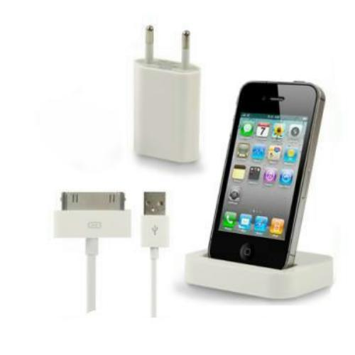 3in1 dockingstation mit netzteil ladekabel datenkabel dock iphone 4 4s wei ebay. Black Bedroom Furniture Sets. Home Design Ideas