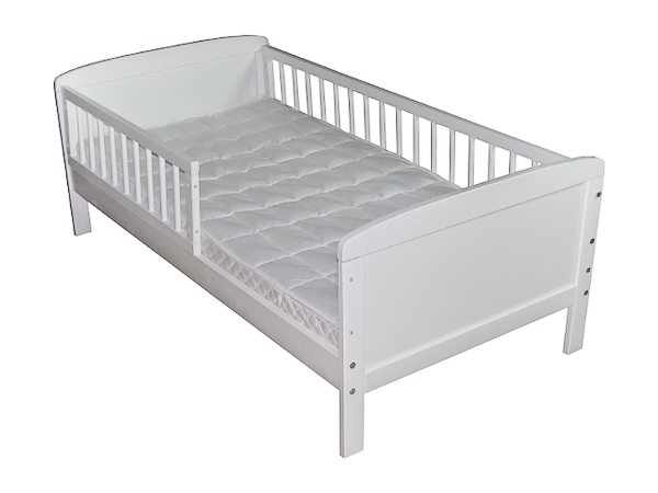 Kinderbett-Juniorbett-Massivholz-in-Weiss-140x70cm-NEU