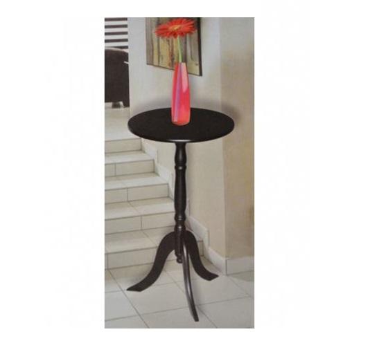 runder beistelltisch tisch holz schwarz wei 29 5 ebay. Black Bedroom Furniture Sets. Home Design Ideas