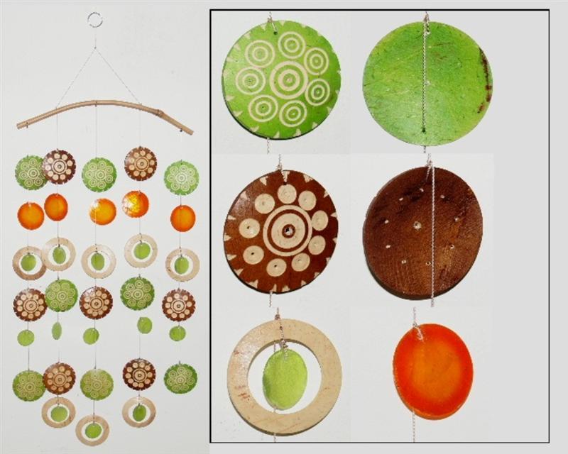 windspiel kokosnuss 62 cm kokosnuss schnitzereien naturmaterialien deko trend ebay. Black Bedroom Furniture Sets. Home Design Ideas