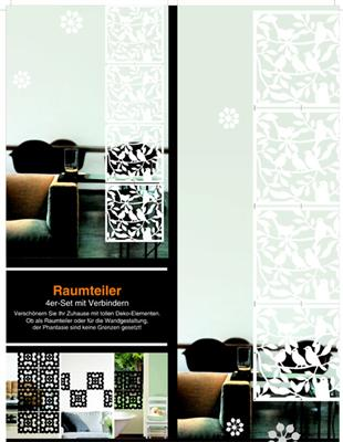 moderner raumteiler 4 er set viele motive schwarz oder weiss vorhang ebay. Black Bedroom Furniture Sets. Home Design Ideas