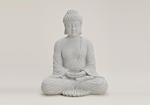 sch ne buddha figur 31 cm gross grau betonoptik feng shui sitzt. Black Bedroom Furniture Sets. Home Design Ideas