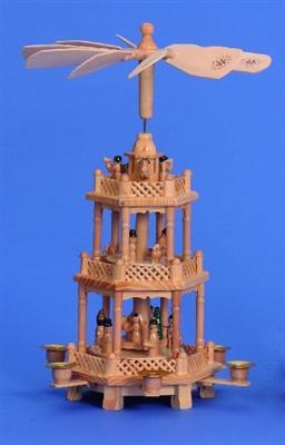 grosse weihnachtspyramide pyramide aus holz 43cm f r 6. Black Bedroom Furniture Sets. Home Design Ideas