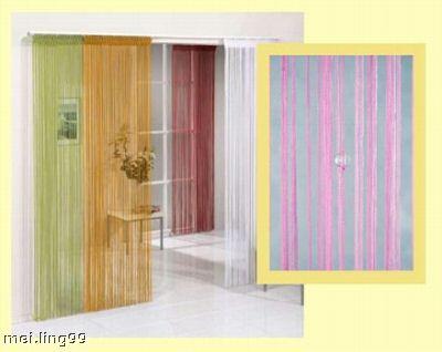 fadenvorhang t rvorhang mit perlen schwarz 2 40m x 90cm ebay. Black Bedroom Furniture Sets. Home Design Ideas