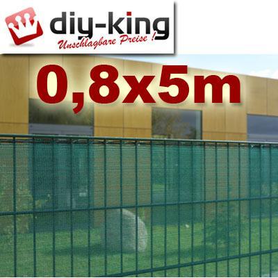 sichtschutz gartenzaun zaun blende netz 0 8x5m gr n. Black Bedroom Furniture Sets. Home Design Ideas