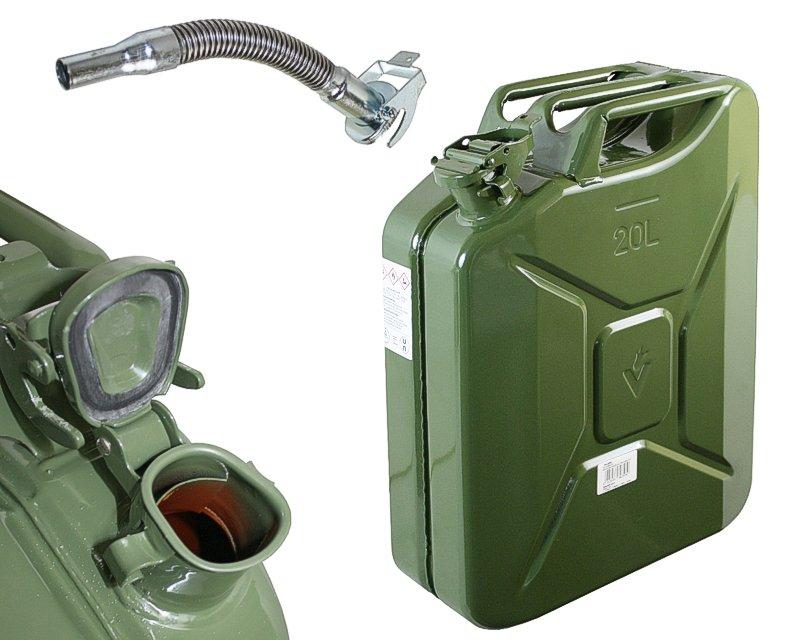 Neu 20 Liter 20L Dieselkanister Benzinkanister Metallkanister Kanister  MT97