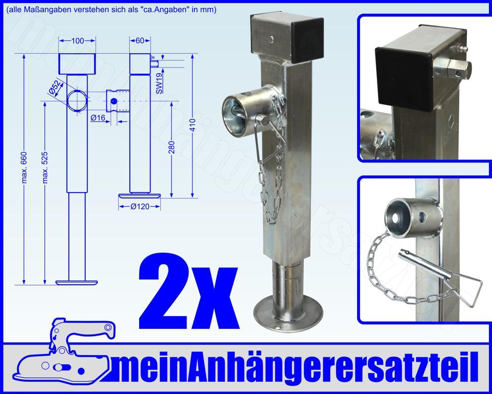 4x AL-KO Stützfuß Ausdrehstützen Schwenkstützen Schwerlaststützen 500kg 1224068