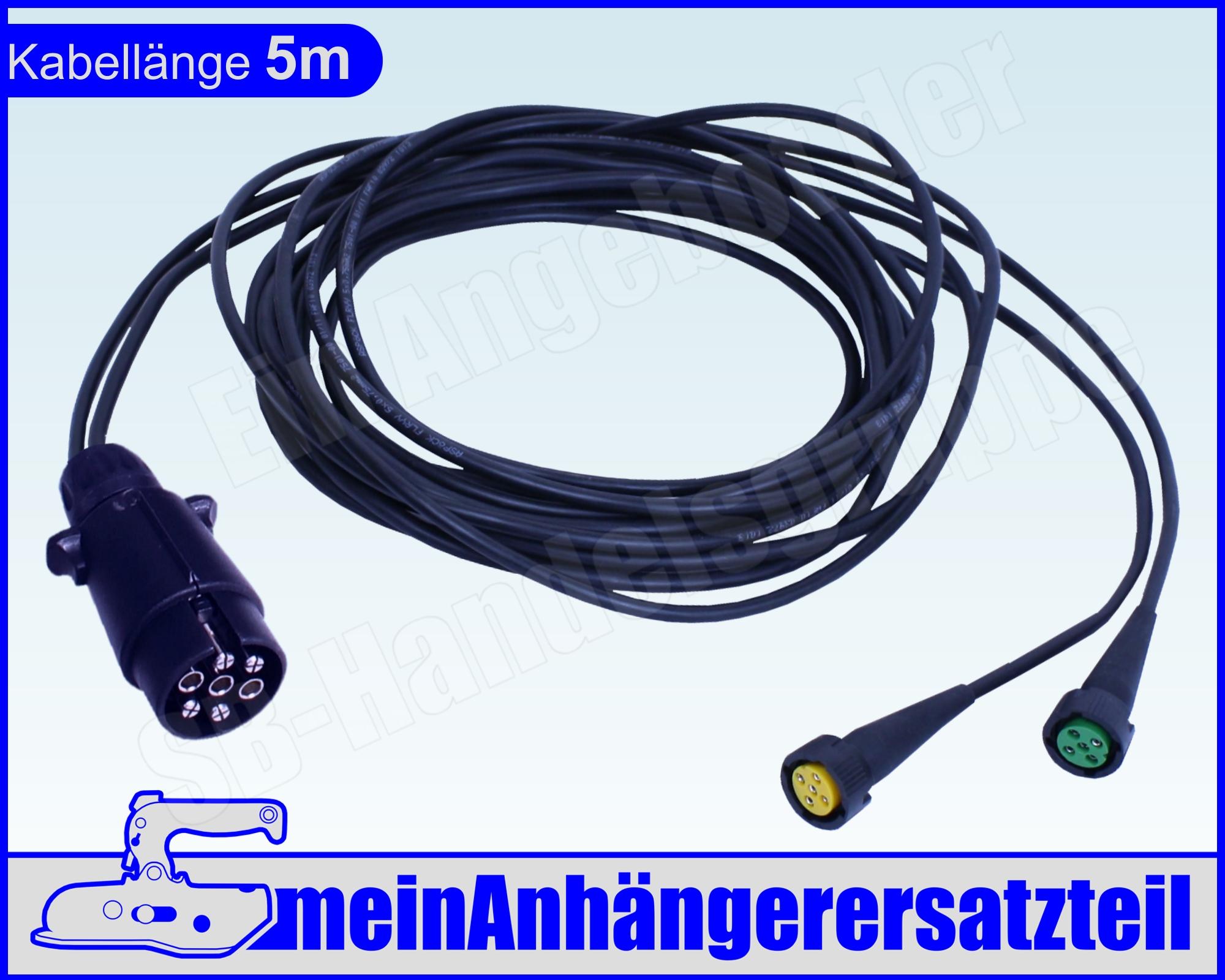Aspöck Kabelbaum Kabelsatz 13pol. 7m Bajonettanschluss und DC-Abgang ...