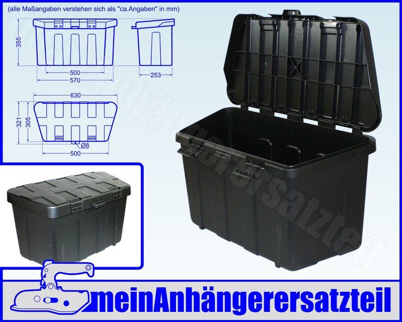 staukasten profibox plus staubox werkzeugbox f r v deichsel pkw anh nger ebay. Black Bedroom Furniture Sets. Home Design Ideas