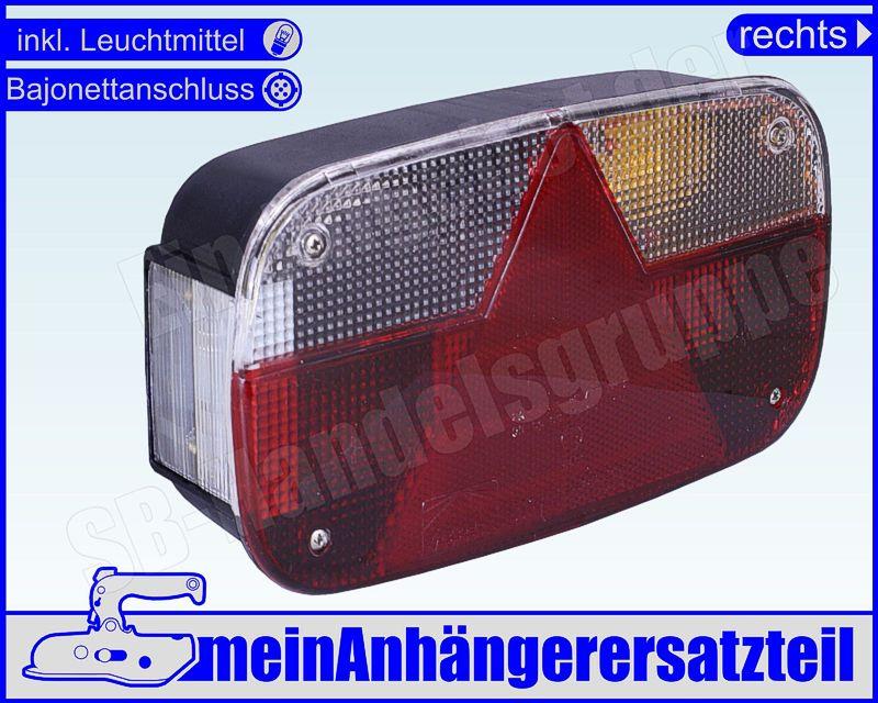 Anhänger Aspöck Multipoint 5  V rechts mit Rückfahrscheinwerfer Rückleuchte f