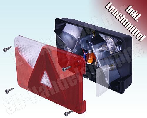 asp ck multipoint v 5 r ckleuchte r cklicht f r pkw anh nger links ebay. Black Bedroom Furniture Sets. Home Design Ideas