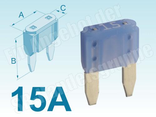 fahrzeugsicherung sicherung flachstecksicherung ato of1 mini 15 a ampere 15a. Black Bedroom Furniture Sets. Home Design Ideas
