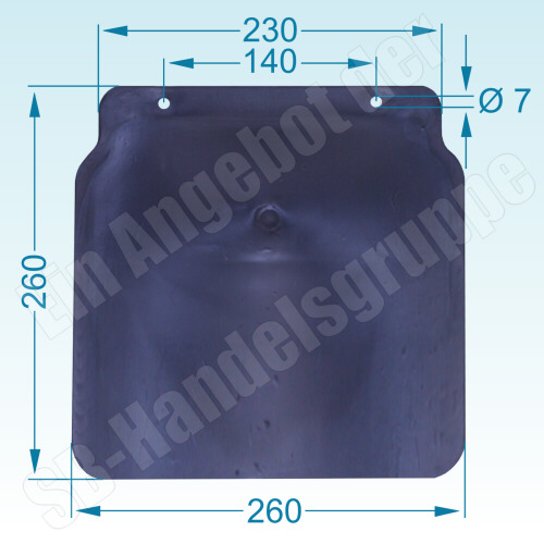 PKW Anhänger Kotflügel Stahlblech Metall Breite = 260mm Spannweite = 750mm f