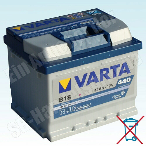 varta b18 12v 44ah 440a batterie starterbatterie. Black Bedroom Furniture Sets. Home Design Ideas