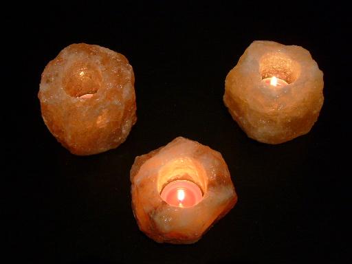 5x salzkristall teelicht salzlampe teelichthalter ebay. Black Bedroom Furniture Sets. Home Design Ideas