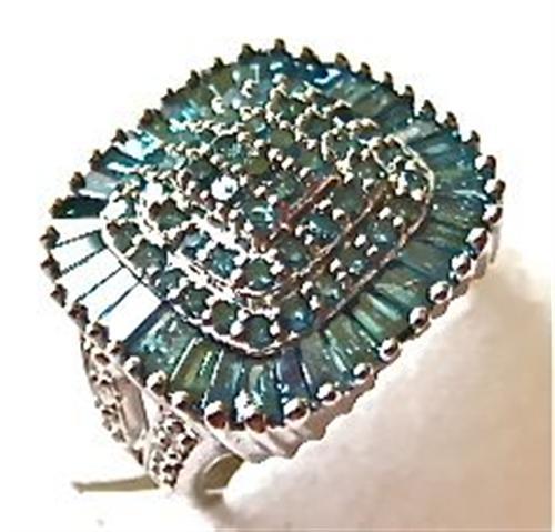 harry ivens iv ring silber 925 mit blauen diamanten ebay. Black Bedroom Furniture Sets. Home Design Ideas