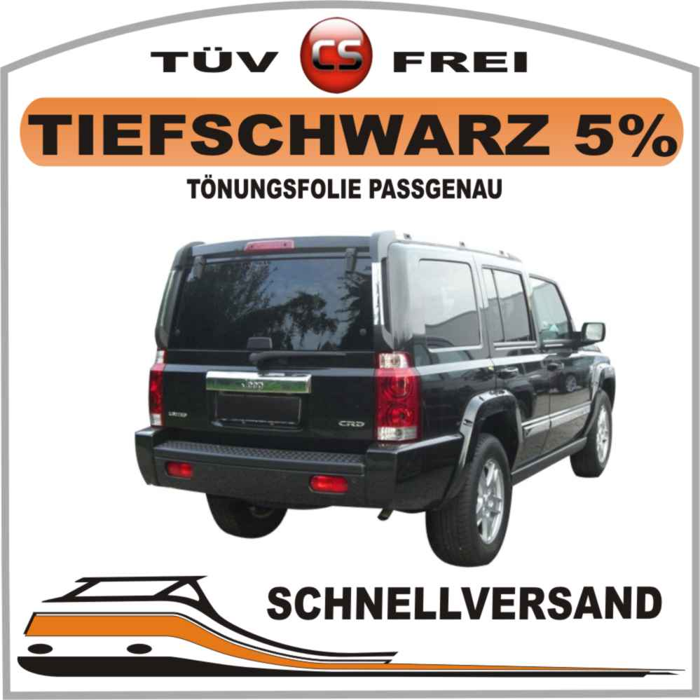 Toenungsfolie-passgenau-tiefschwarz-5-VW-Golf-3-5-Tuerer-ohne-3-Bremsleuchte