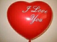 Herzballons 16 Fashion Solid rot mit Aufdruck I Love You