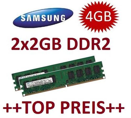 2x-2GB-4GB-SAMSUNG-RAM-Speicher-DDR2-667-Mhz-240-pin-DIMM-PC-Arbeitsspeicher-CL5