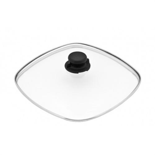 sicherheits glasdeckel 26x26cm deckelknopf f r gundel pfannen t pfe br ter ebay. Black Bedroom Furniture Sets. Home Design Ideas