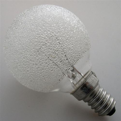 globelampe globe gl hbirne eiskristall e14 40w d50 510 ebay. Black Bedroom Furniture Sets. Home Design Ideas