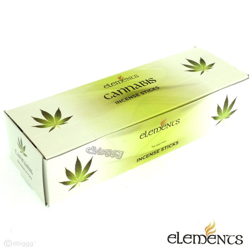 Cannabis von Elements Big Pack 6 x 20 Räucherstäbchen Original Indien Incense