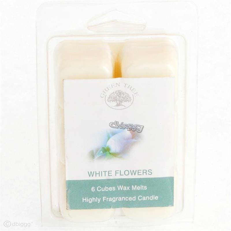 WHITE FLOWERS von Green Tree Duftwachs Wax Melts  6 Würfel 80g