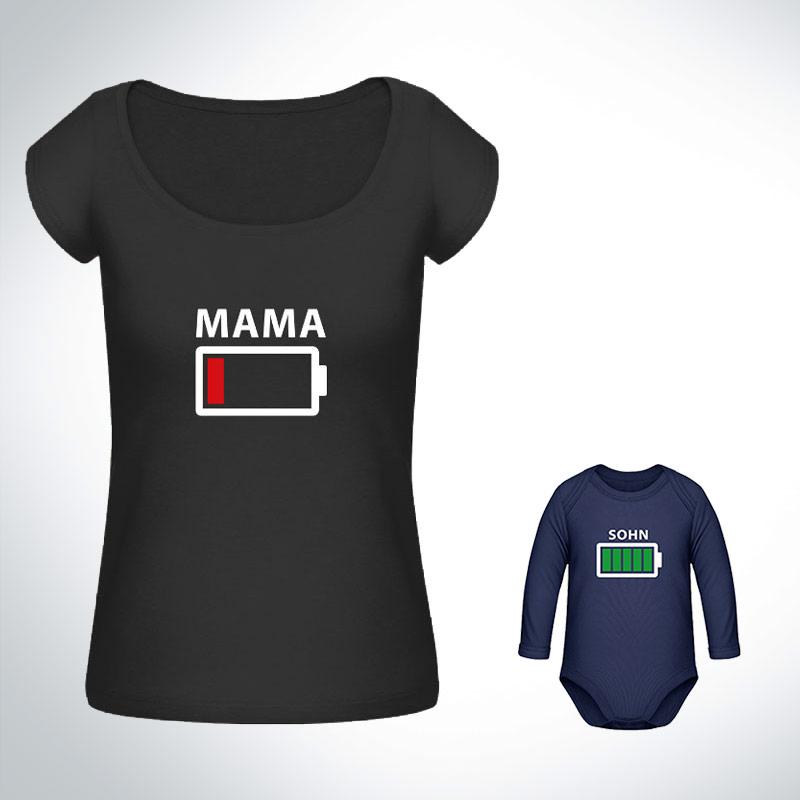 partner shirt partner look t shirt batteria scarica madre. Black Bedroom Furniture Sets. Home Design Ideas