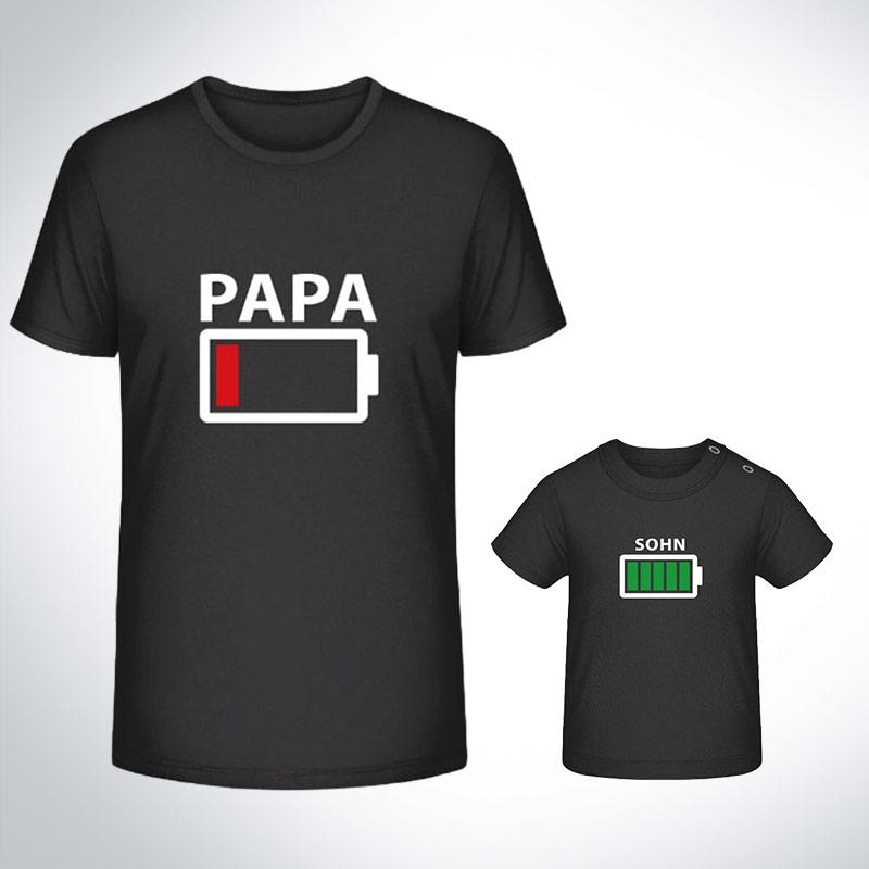 partner shirt partnerlook t shirt akku leer papa sohn. Black Bedroom Furniture Sets. Home Design Ideas