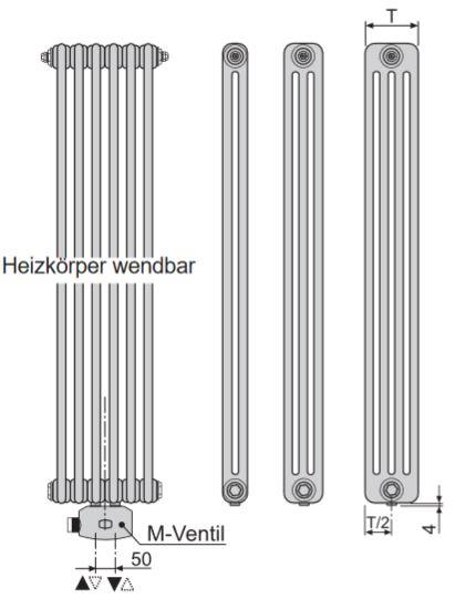 bemm mera m bh 1500 mm glieder r hrenradiator. Black Bedroom Furniture Sets. Home Design Ideas