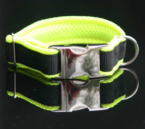 exclusives halsband gelb schwarz bestickt mit name telefonnummer hundehalsband. Black Bedroom Furniture Sets. Home Design Ideas
