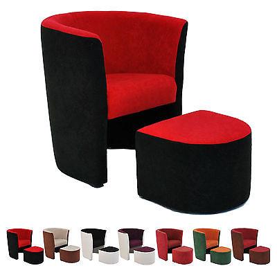 sessel clubsessel hocker sitzhocker loungesessel cocktailsessel microfaser ebay. Black Bedroom Furniture Sets. Home Design Ideas