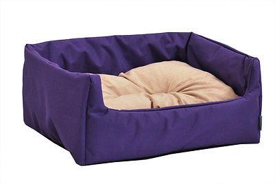 Hundebett-Katzenbett-Hundekorb-Hundekissen-Polyester-PVC-viele-Farben-2-Groessen