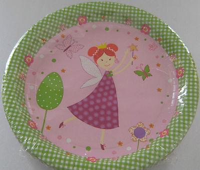 Duni pink fairy kindergeburtstag party deko einweggeschirr for Kindergeburtstag pappteller