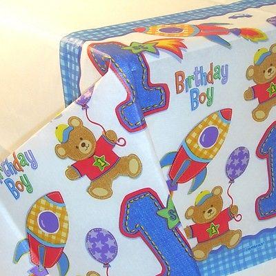erster kindergeburtstag party fest fete dekoration kind geburtstag b r rakete ebay. Black Bedroom Furniture Sets. Home Design Ideas