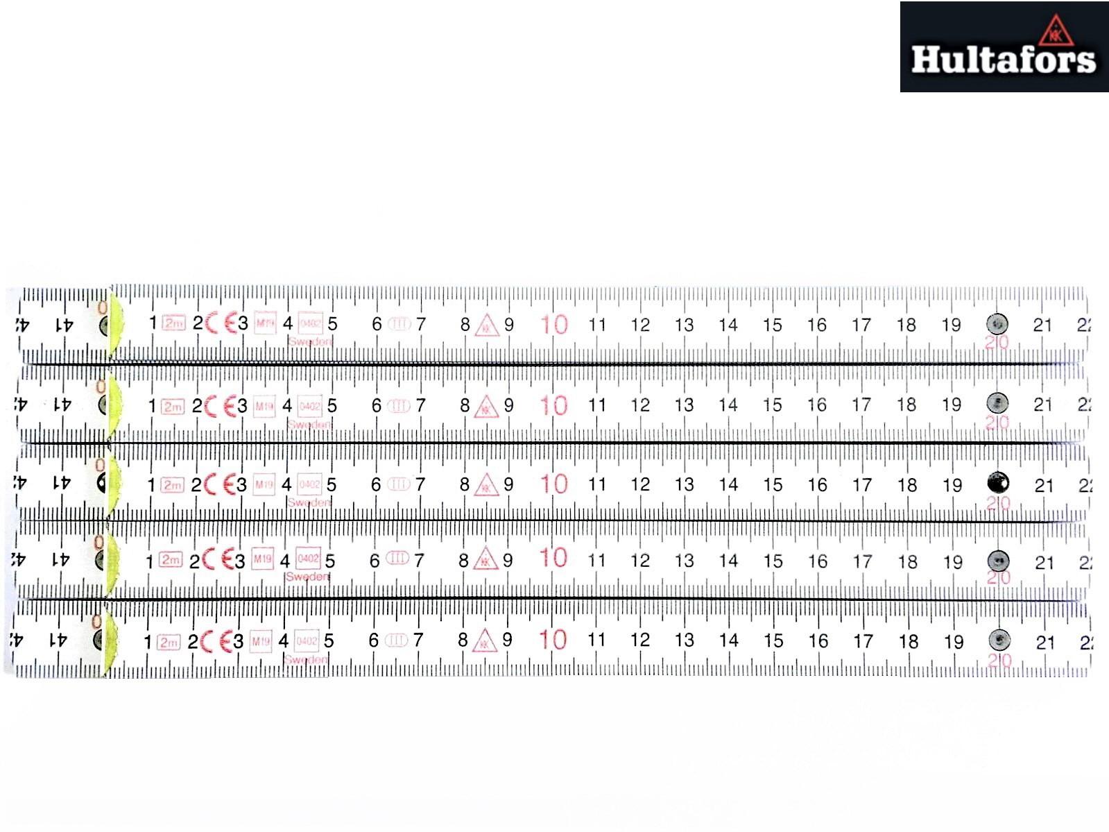 5x Hultafors Profi Schmiegen 2m Holz Dezimeter rot weiss Duplex-Winkelgradskala